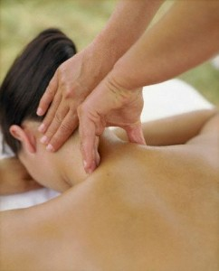 Woman Receiving Neck Massage